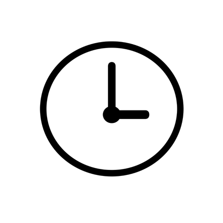 clock vector on the white background.