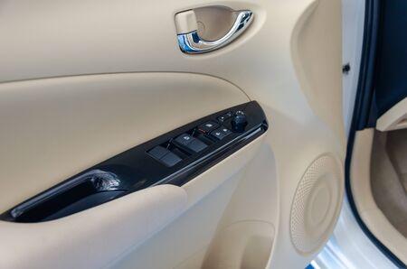 Details in the car door panel Stock Photo