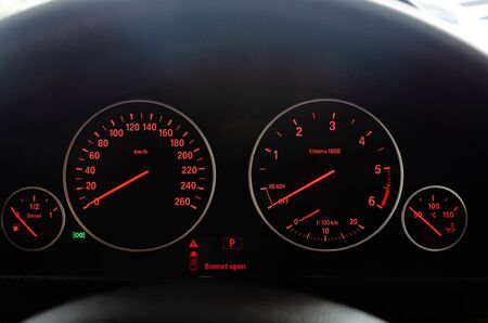 Details of modern speed car miles
