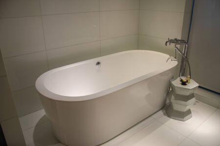 Interior luxury bath in the bathroom
