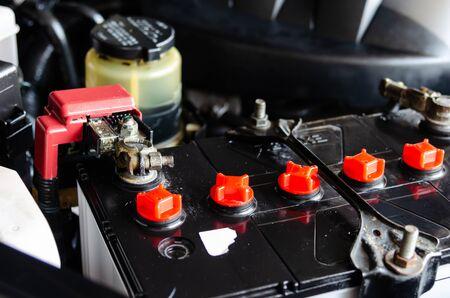 close up of a new car battery Reklamní fotografie