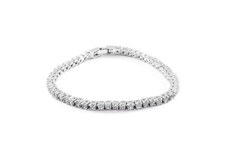 Jewelry diamond bracelet on the white background.