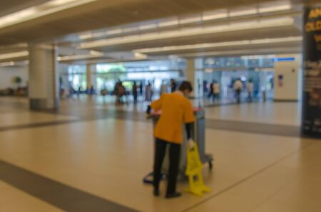 Blurred airport terminal building background