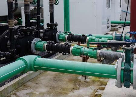 Steel Pipe Factory Green Water Supply System Reklamní fotografie