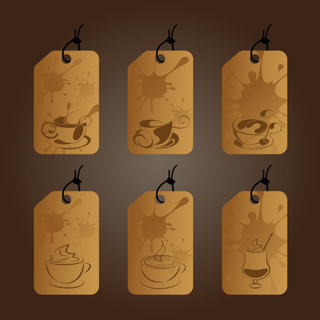coffee label template vector design eps10 illustration royalty free
