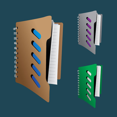 filing documents: Collection of file folder Vector EPS10  illustration