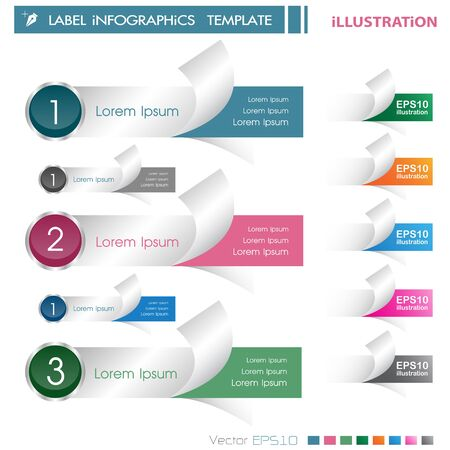 Modern Design template ILLUSTRATION EPS10 Format  can be used for infographics  numbered banners  horizontal cutout lines  graphic or website layout vector horizontal Label Vector