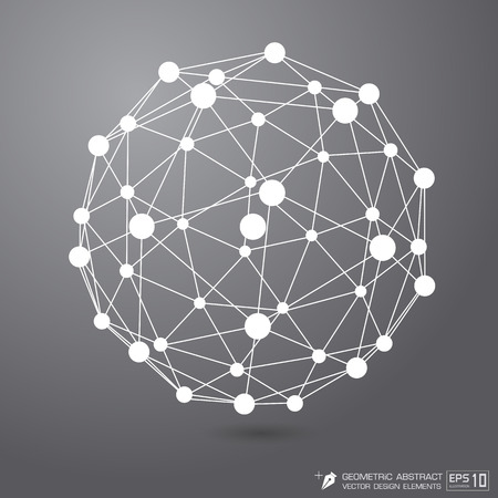 white color: Molecule structure White color on gray background  Vector  format   Illustration