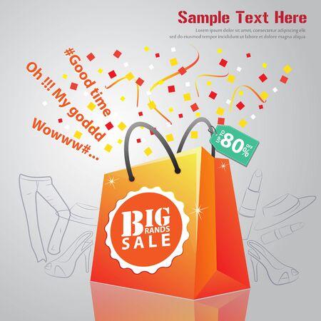 bg: Big Brand Sale Sign Illustration