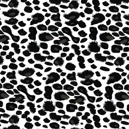 leopard print: Black and White Leopard Print.  EPS10 Vector  illustration