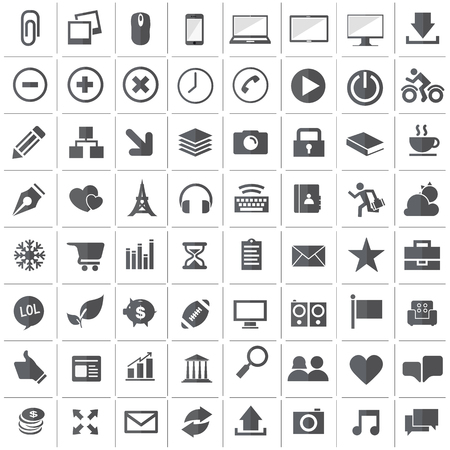 web icons: Universal Outline Icons For Web and Mobile Illustration