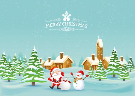 Frohe Weihnachten Landschaft