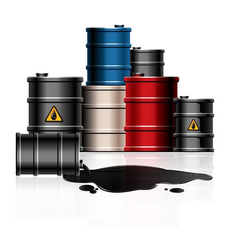 barel: Oil barrels Illustration