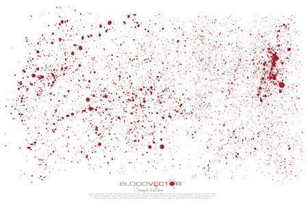 éclaboussures de sang isolé sur fond blanc