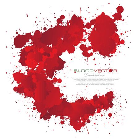 ink stain: Blood splatter isolated on white background