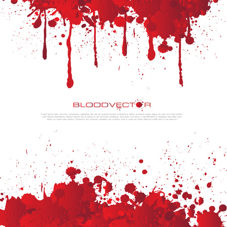Abstract Blood splatter isolated on White background Illustration