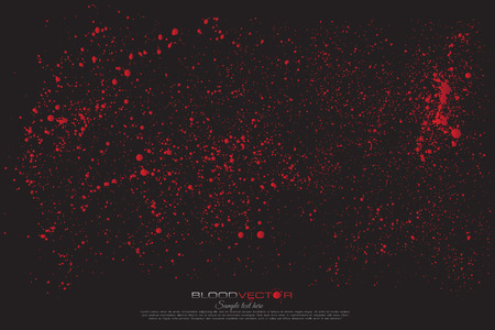Resumen de la salpicadura de sangre aislado en el fondo Negro, diseño del vector