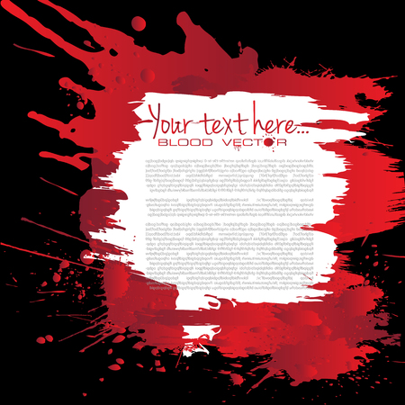 blood stain: Abstract Blood splatter isolated on Black background, vector design Illustration