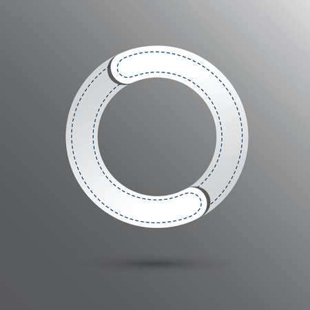 premier: Number Zero with white and gray color . Vector design template elements for your design