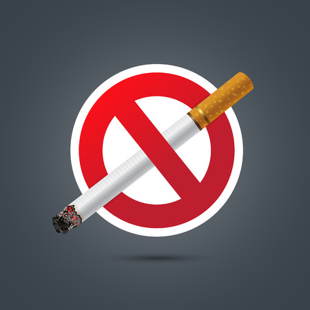 smokers: No smoking sign on Dark background