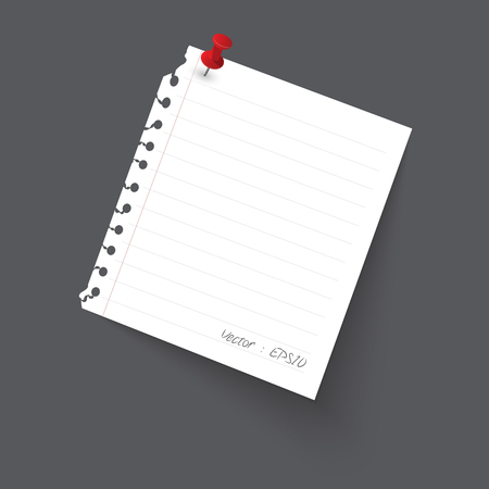 paper note: Note paper Isolate on gray background, illustration
