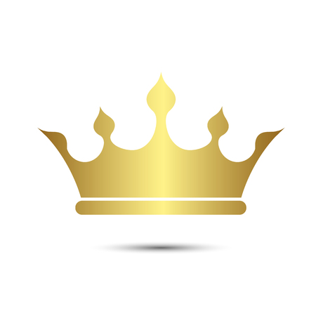 Crown symbol with Gold Color isolate on white background, vector illustration 矢量图像