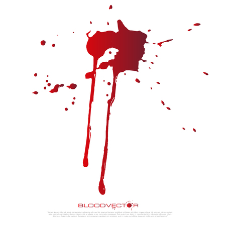 Abstract Blood splatter isolated on White background, vector design
