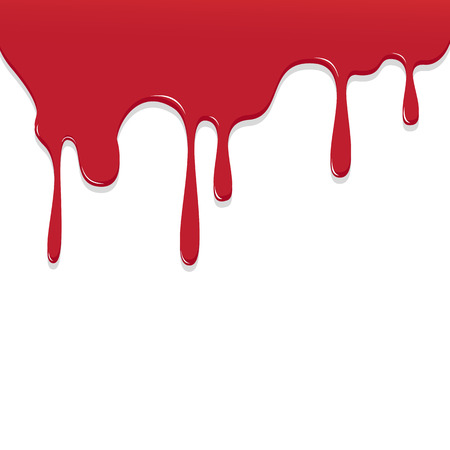 ooze: Paint Red color dripping, Color Droping Background vector illustration