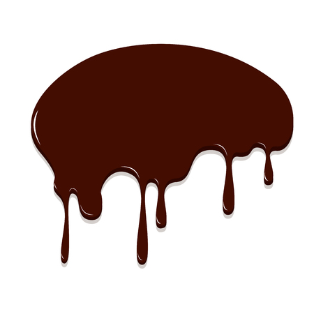 Chocolate dripping, Chocolate background vector illustration