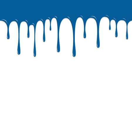 ooze: Paint Blue color dropping, Color Droping Background vector illustration