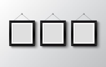 marco de fotos en blanco en la ilustración wall.vector