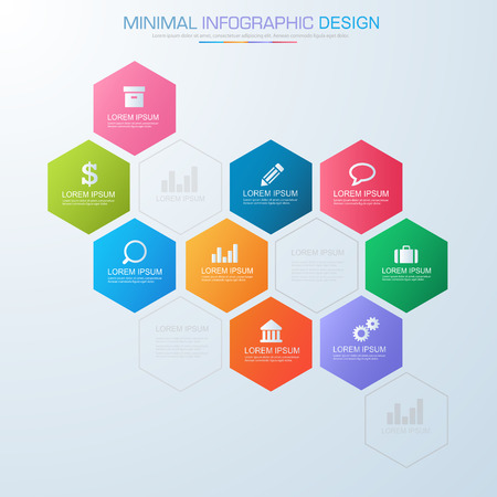Infographic elements with business icon on full color background banco de imagens infographic elements with business icon on full color background process or steps and options workflow diagramsvector design element ccuart Choice Image