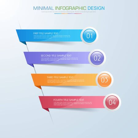 Infographic Elements with business icon on full color background  process or steps and options workflow.