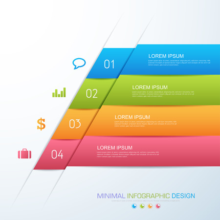 Infographic elements with business icon on full color background infographic elements with business icon on full color background process or steps and options workflow diagrams ccuart Image collections