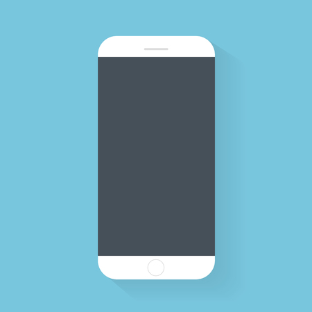 Flash Design with long shadow the smart phone with Blank screen ,vector design Element illustration