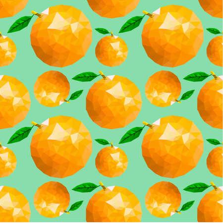 orange pattern seamless Stock Illustratie