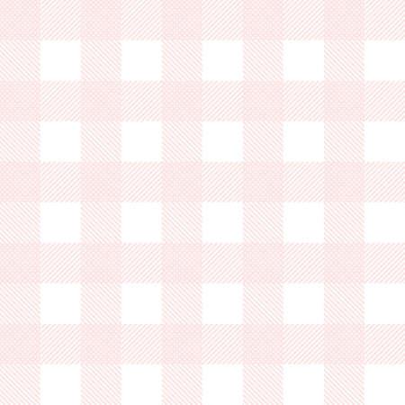 Pink seamless tartan background vector illustration.