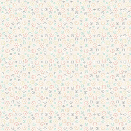 Cute floral pattern in the small flower. Seamless vector texture.