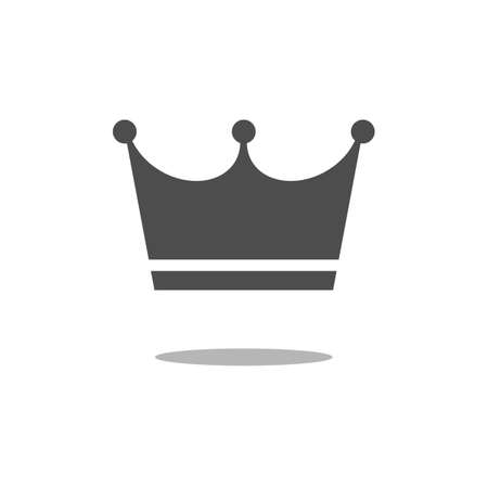 Crown Icon in trendy flat style isolated on white background. Crown symbol for your web site design.