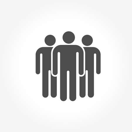 People Icon in trendy flat style isolated on grey background. Crowd sign. Persons symbol for your web site design, logo, app, UI. Vector illustration.