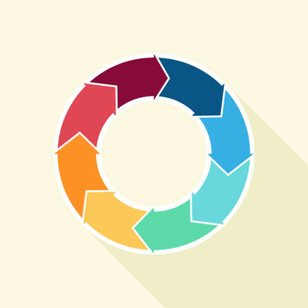 Vector circle arrows for infographic. Template for cycling diagram, graph, presentation and round chart. vector illustration.