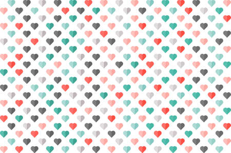 Heart color seamless pattern. Fashion graphic design. Modern stylish texture. Colorful template for prints, textiles, wrapping, wallpaper, card, banner, business. Vector illustration Ilustração
