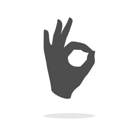 ok hand sign. Ok icon vector. Vector illustrator. Stock Illustratie