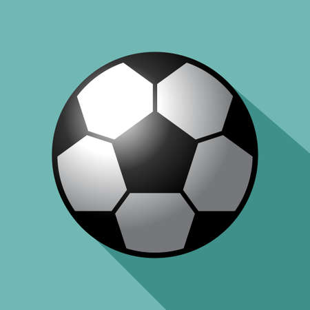 Football vector icon. Soccer ball Vector illustrator.