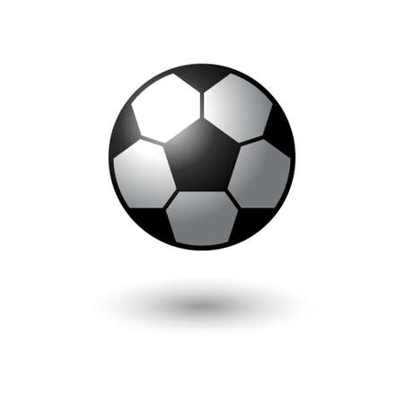 Football vector icon. soccer ball on white. Vector illustrator.
