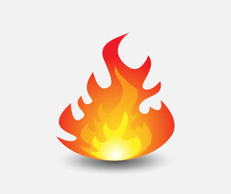 Fire icon illustration for design. Vector illustration. Ilustrace