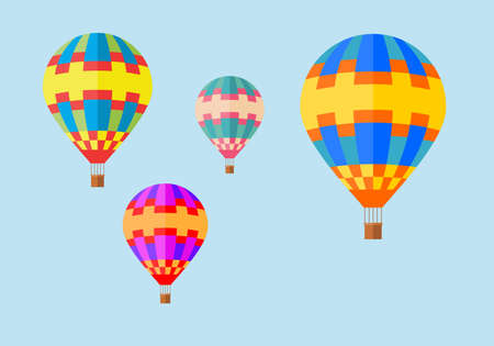 balloons in the sky. balloons on blue background