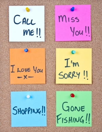 miss you: Post it note collage with many different messages