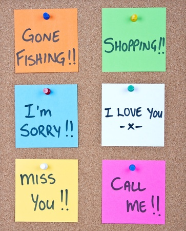 i am sorry: Post it note collage with many different messages