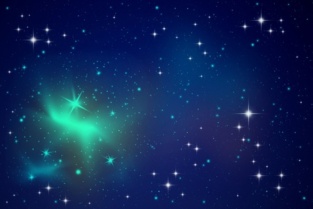 Lighting stars in the night sky Stock Photo - 9098269